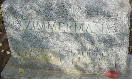 ZIMMERMAN, KATHERINE - Franklin County, Ohio | KATHERINE ZIMMERMAN - Ohio Gravestone Photos