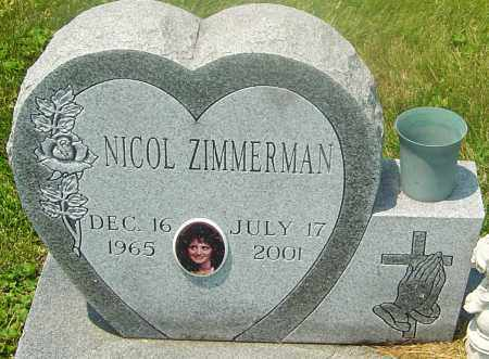 ZIMMERMAN, NICOL - Franklin County, Ohio | NICOL ZIMMERMAN - Ohio Gravestone Photos
