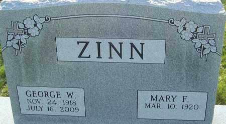 ZINN, GEORGE W - Franklin County, Ohio | GEORGE W ZINN - Ohio Gravestone Photos