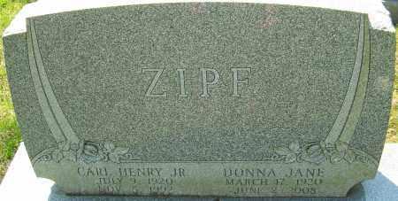 ZIPF, DONNA JANE - Franklin County, Ohio   DONNA JANE ZIPF - Ohio Gravestone Photos