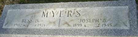 MYERS, JOSEPH - Franklin County, Ohio | JOSEPH MYERS - Ohio Gravestone Photos