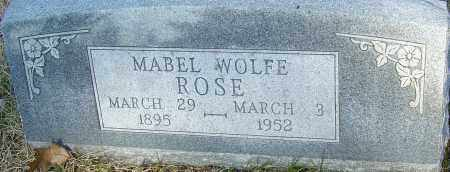 WOLFE ROSE, MABEL - Franklin County, Ohio | MABEL WOLFE ROSE - Ohio Gravestone Photos