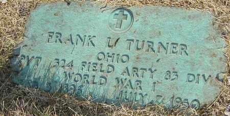 TURNER, FRANK L - Franklin County, Ohio | FRANK L TURNER - Ohio Gravestone Photos