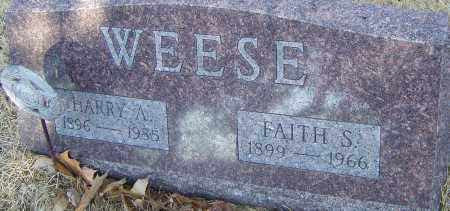 WEESE, HARRY A - Franklin County, Ohio | HARRY A WEESE - Ohio Gravestone Photos