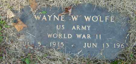 WOLFE, WAYNE W - Franklin County, Ohio | WAYNE W WOLFE - Ohio Gravestone Photos