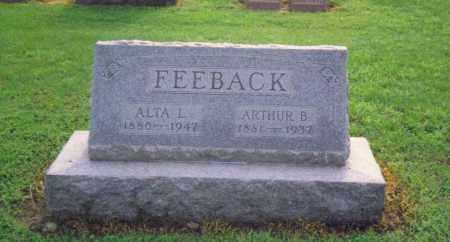 POTTER FEEBACK, ALTA LETITIA - Fulton County, Ohio | ALTA LETITIA POTTER FEEBACK - Ohio Gravestone Photos