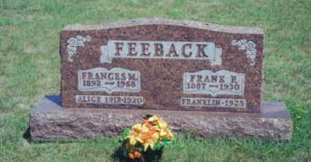 FEEBACK, FRANKLIN - Fulton County, Ohio | FRANKLIN FEEBACK - Ohio Gravestone Photos