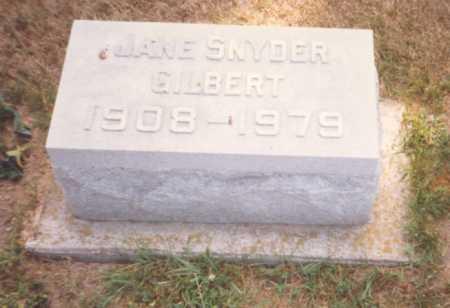 SNYDER GILBERT, JANE - Fulton County, Ohio | JANE SNYDER GILBERT - Ohio Gravestone Photos