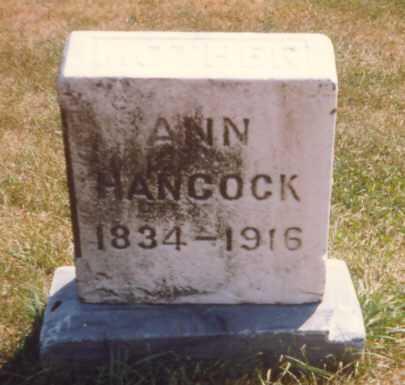 HANCOCK, ANN - Fulton County, Ohio   ANN HANCOCK - Ohio Gravestone Photos
