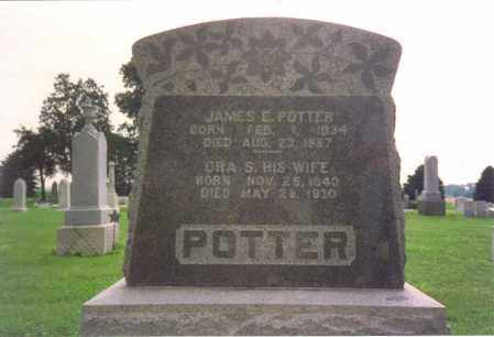 GRANGER POTTER, ORA SAPHRONIA - Fulton County, Ohio | ORA SAPHRONIA GRANGER POTTER - Ohio Gravestone Photos
