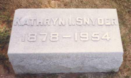 SNYDER, KATHRYN I. - Fulton County, Ohio   KATHRYN I. SNYDER - Ohio Gravestone Photos