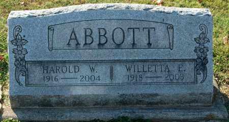 ABBOTT, HAROLD W. - Gallia County, Ohio   HAROLD W. ABBOTT - Ohio Gravestone Photos