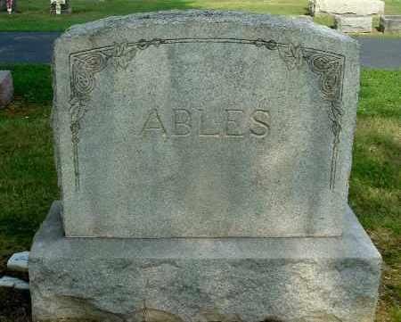 ABLES, FAMILY MONUMENT - Gallia County, Ohio   FAMILY MONUMENT ABLES - Ohio Gravestone Photos