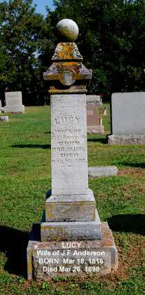ANDERSON, LUCY - Gallia County, Ohio | LUCY ANDERSON - Ohio Gravestone Photos