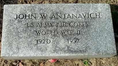 ANTANAVICH, JOHN W (VETERANS) - Gallia County, Ohio | JOHN W (VETERANS) ANTANAVICH - Ohio Gravestone Photos