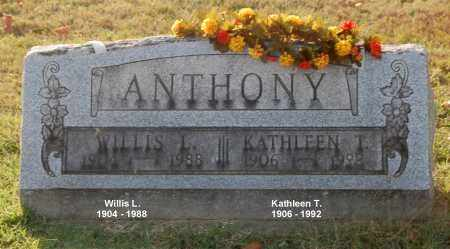 ANTHONY, WILLIS L. - Gallia County, Ohio | WILLIS L. ANTHONY - Ohio Gravestone Photos