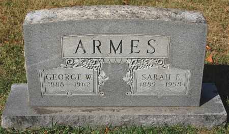 ARMES, SARAH E. - Gallia County, Ohio | SARAH E. ARMES - Ohio Gravestone Photos