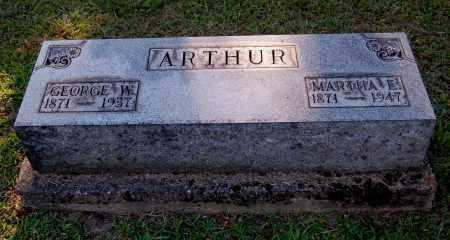 ARTHUR, GEORGE W - Gallia County, Ohio | GEORGE W ARTHUR - Ohio Gravestone Photos