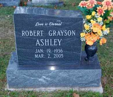 ASHLEY, ROBERT GRAYSON - FRONT VIEW - Gallia County, Ohio | ROBERT GRAYSON - FRONT VIEW ASHLEY - Ohio Gravestone Photos
