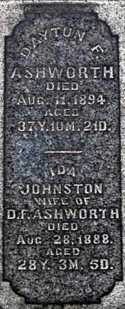 ASHWORTH, DAYTON (CLOSE-UP) - Gallia County, Ohio | DAYTON (CLOSE-UP) ASHWORTH - Ohio Gravestone Photos
