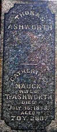 MAUCK ASHWORTH, CATHERINE (CLOSE-UP) - Gallia County, Ohio | CATHERINE (CLOSE-UP) MAUCK ASHWORTH - Ohio Gravestone Photos
