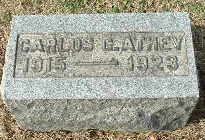 ATHEY, CARLOS G - Gallia County, Ohio | CARLOS G ATHEY - Ohio Gravestone Photos