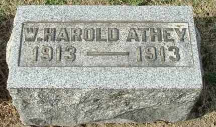 ATHEY, W HAROLD - Gallia County, Ohio | W HAROLD ATHEY - Ohio Gravestone Photos