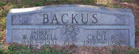 BACKUS, W RUSSELL - Gallia County, Ohio | W RUSSELL BACKUS - Ohio Gravestone Photos