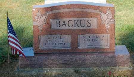 BACKUS, WILLIAM EARL - Gallia County, Ohio   WILLIAM EARL BACKUS - Ohio Gravestone Photos