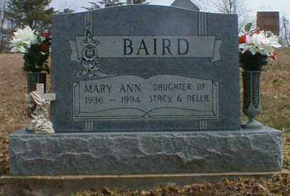 BAIRD, MARY - Gallia County, Ohio   MARY BAIRD - Ohio Gravestone Photos