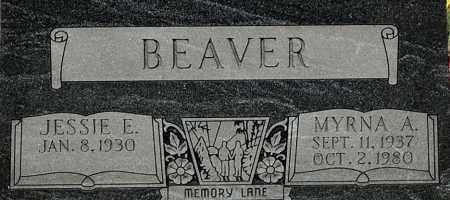BEAVER, MYRNA A (CLOSE-UP) - Gallia County, Ohio | MYRNA A (CLOSE-UP) BEAVER - Ohio Gravestone Photos
