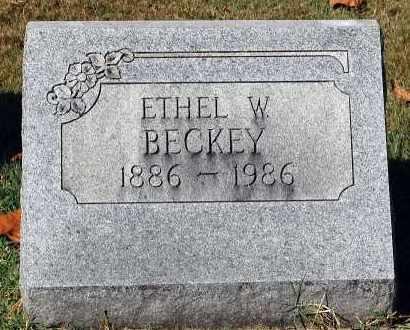 BECKEY, ETHEL W. - Gallia County, Ohio   ETHEL W. BECKEY - Ohio Gravestone Photos