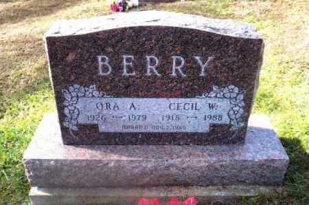 BERRY, ORA A. - Gallia County, Ohio | ORA A. BERRY - Ohio Gravestone Photos