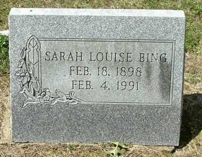 BING, SARAH LOUISE - Gallia County, Ohio   SARAH LOUISE BING - Ohio Gravestone Photos