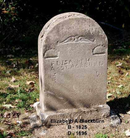 BLACKBURN, ELIZABETH A - Gallia County, Ohio | ELIZABETH A BLACKBURN - Ohio Gravestone Photos
