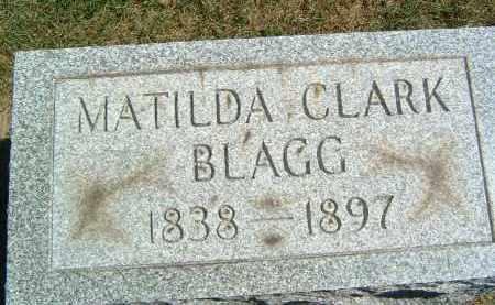 CLARK BLAGG, MATILDA - Gallia County, Ohio | MATILDA CLARK BLAGG - Ohio Gravestone Photos