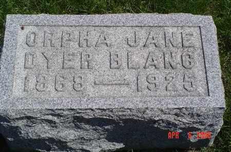 DYER BLANC, ORPHA - Gallia County, Ohio | ORPHA DYER BLANC - Ohio Gravestone Photos