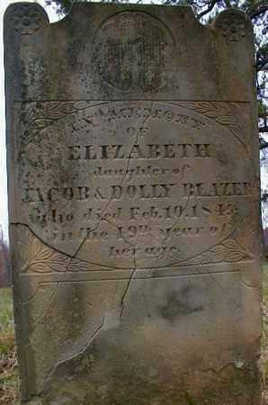 BLAZER, ELIZABETH - Gallia County, Ohio   ELIZABETH BLAZER - Ohio Gravestone Photos