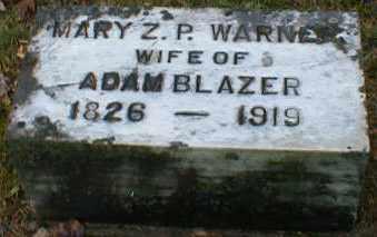 WARNER BLAZER, MARY - Gallia County, Ohio | MARY WARNER BLAZER - Ohio Gravestone Photos