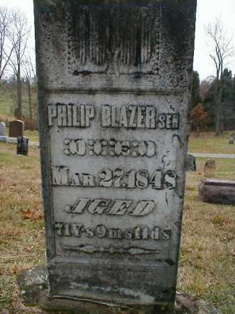 BLAZER, PHILIP - Gallia County, Ohio | PHILIP BLAZER - Ohio Gravestone Photos
