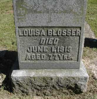 BLOSSER, LOUISA - Gallia County, Ohio | LOUISA BLOSSER - Ohio Gravestone Photos