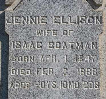 "BOATMAN, JENNIE ""CLOSE-UP"" - Gallia County, Ohio   JENNIE ""CLOSE-UP"" BOATMAN - Ohio Gravestone Photos"