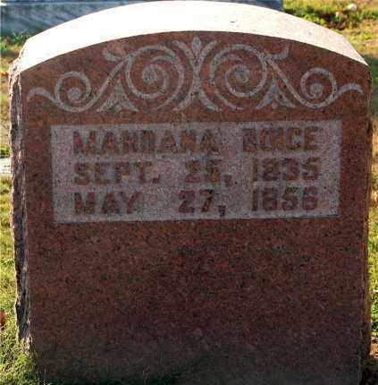 BOICE, MANDANA - Gallia County, Ohio | MANDANA BOICE - Ohio Gravestone Photos