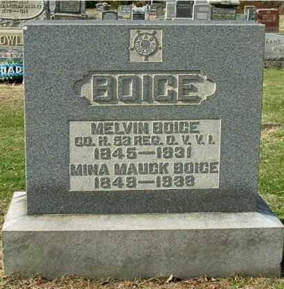 BOICE, MINA - Gallia County, Ohio | MINA BOICE - Ohio Gravestone Photos