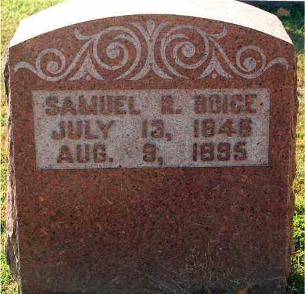 BOICE, SAMUEL R. - Gallia County, Ohio | SAMUEL R. BOICE - Ohio Gravestone Photos