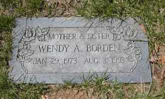 BORDEN, WENDY A. - Gallia County, Ohio | WENDY A. BORDEN - Ohio Gravestone Photos