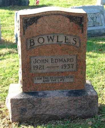 BOWLES, JOHN EDWARD - Gallia County, Ohio | JOHN EDWARD BOWLES - Ohio Gravestone Photos