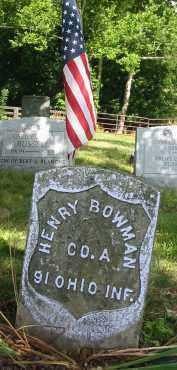 BOWMAN, HENRY - Gallia County, Ohio | HENRY BOWMAN - Ohio Gravestone Photos