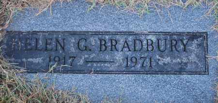 BRADBURY, HELEN G - Gallia County, Ohio | HELEN G BRADBURY - Ohio Gravestone Photos