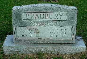 BRADBURY, LUELLA - Gallia County, Ohio | LUELLA BRADBURY - Ohio Gravestone Photos